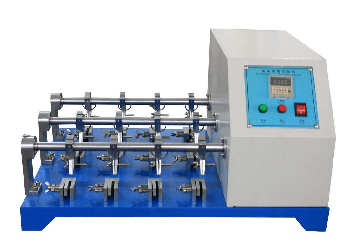 Leather Bending Resistance Testing Machine , BALLY Leather Flexing Resistance Tester