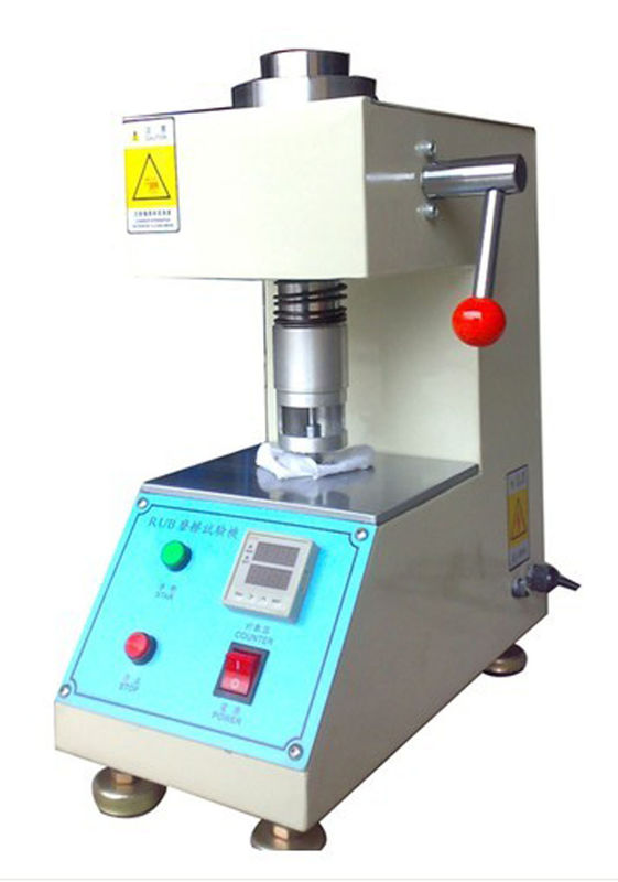 Electrical Fastness Leather Testing Equipment Rubbing Crock Meter BS 1006 Standard
